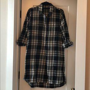 NWOT Madewell Flannel Shirtdress, sz S